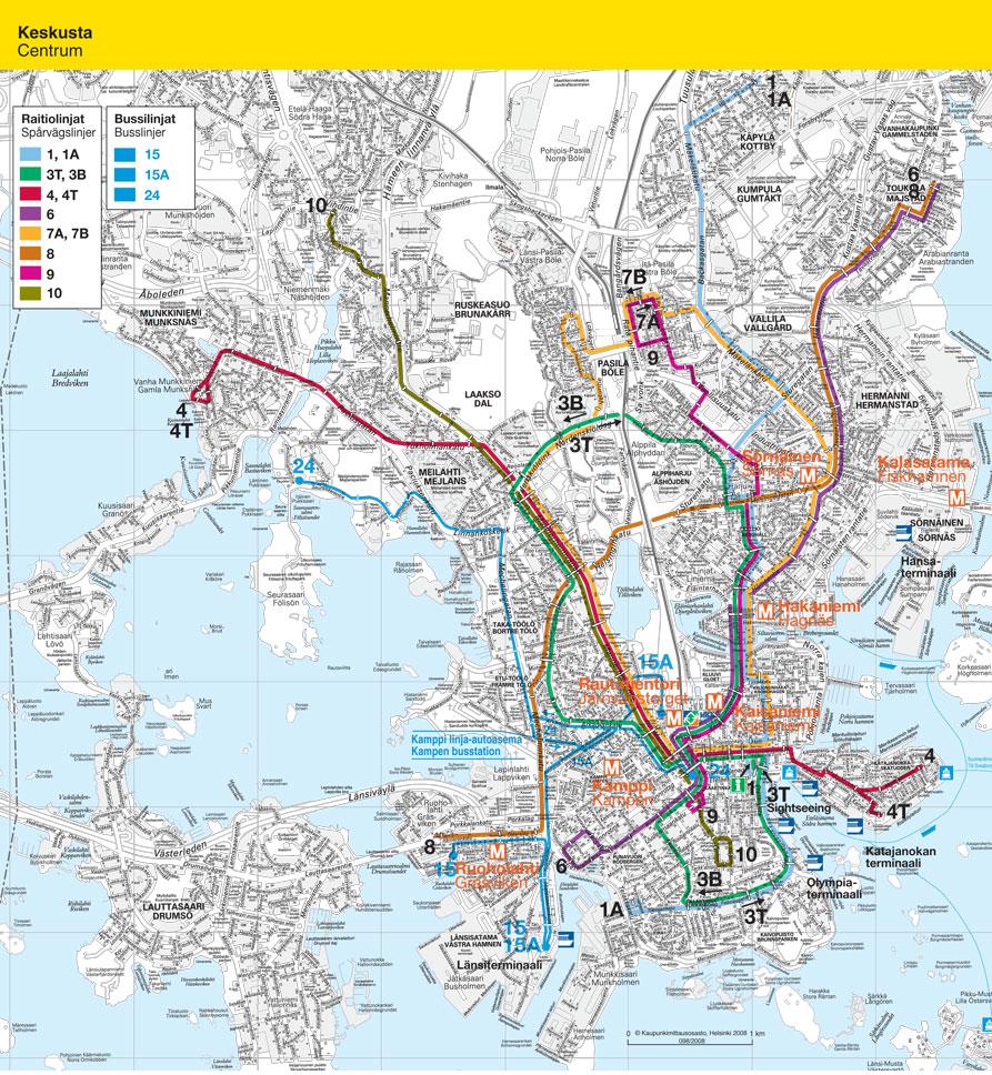 Raitiovaunujen reitit – Älypuhelimen käyttö ulkomailla